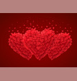 valentines red hearts love concept vector image