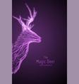 Violet geometric deer head