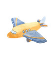 watercolor cute cartoon airplane clipart