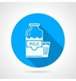 Contour icon for milk vector image