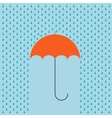 modern umbrella with rain background vector image