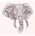 Patterned elephant zentangle style vector image