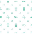 aquatic icons pattern seamless white background vector image vector image