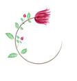 art sketching floral background vector image