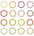 autumn circle frames vector image