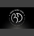 bd handwritten letters logo design with circular vector image vector image
