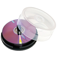 Blank dvds vector image