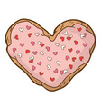 bright cookie vector image