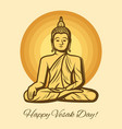 buddha statue vesak day buddhism religion holiday vector image
