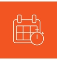 Calendar and stopwatch line icon vector image vector image