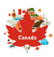 canada background design vector image