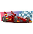 cartoon modern red sport racing car vector image vector image