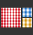 checkered tablecloth seamless pattern table cloth vector image vector image