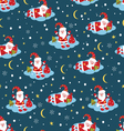 Christmas seamless pattern with Santa vector image vector image