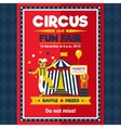 Circus Fun Fair Carnival Poster Red vector image