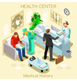 Clinic Wait Room Isometric People vector image