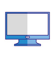 computer monitor technology isolated image vector image vector image