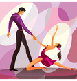 Couple dancers in romantic scene vector image