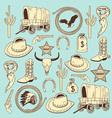 Cowboy seamless pattern vector image