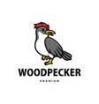 cute wood pecker cartoon logo icon vector image vector image