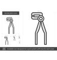 Dental pliers line icon vector image vector image
