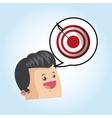 Digital marketing design target icon multimedia vector image vector image