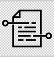 document paper icon in flat style terms sheet on vector image vector image
