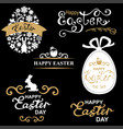 easter decorative greeting icon set vector image vector image