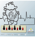 Electric Wire Heart Wave Education Infographic vector image vector image
