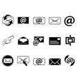 email symbol icons set vector image