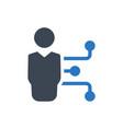 employee hierarchy icon vector image