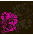 Flower on a black background postcard vector image vector image