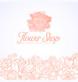 flower shop logo vector image vector image