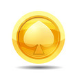 game coin with peak game interface gold vector image vector image