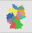 germany map with federal states flat vector image vector image