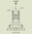 great st martin church in cologne vector image vector image