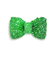 Green sparkling glitter decorated bow St Patrick vector image vector image