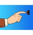 hand presses call button view profile vector image vector image