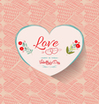 happy valentine background floral vector image vector image