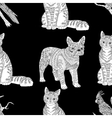 High detailed seamless pattern with cat vector image vector image
