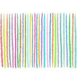 irregular lines pattern in mixed colors over white vector image vector image