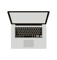 laptop flat style front vector image