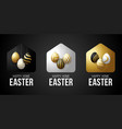 luxury gold happy home easter 2020 card vector image