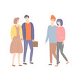 male and female in love guy with suitcase people vector image vector image