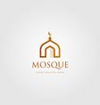 mosque building logo simple luxury icon design vector image vector image
