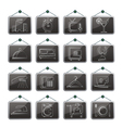 motel and travel icons vector image vector image