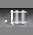 oil radiator isolated on horizontal transparent vector image vector image