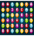 Party Balloons Alphabet and numbers vector image vector image
