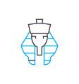 pharaoh linear icon concept pharaoh line vector image