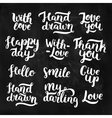 photo overlays handdrawn lettering vector image vector image